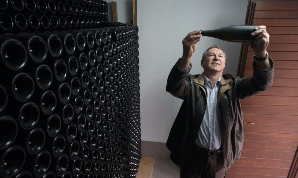 The late Đordano Peršurić at Misal winery, Istria