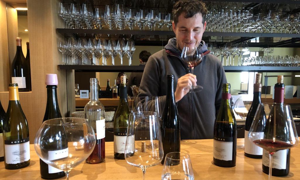 Josip Korak in the tasting room, Korak Winery